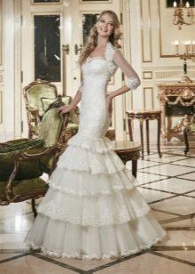Свадебное платье русалка с болеро