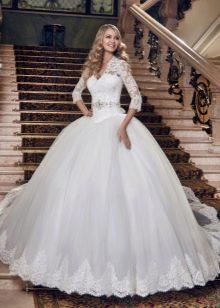 Пышное свадебное платье из коллекции Сияние нежности от Евы Уткиной