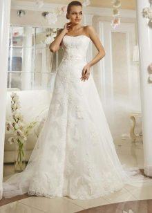 Свадебное платье а-силуэта кружевное от Ева Уткиной