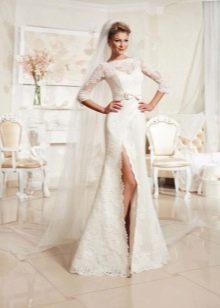 Свадебное платье из коллекции Просто любовь от Евы Уткиной с разрезом