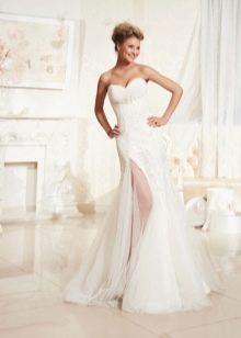 Свадебное платье с рзрезом от Евы Уткиной