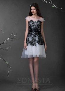 Свадебное платье из коллекции «Love Story» черно-белое