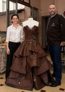 Вечернее платье из шоколада