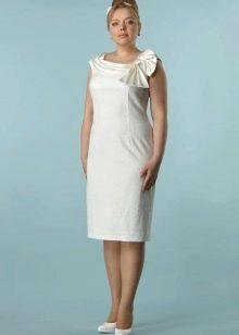 Белое вечернее платье 50 размера