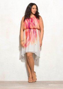 Цветное вечернее платье для 54 размера