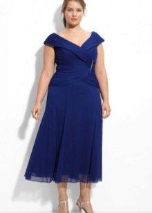 Вечернее платье миди для 52 размера