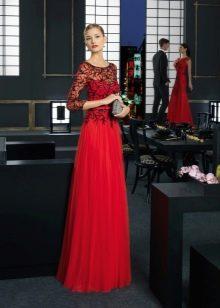 Красное вечернее платье праздничное