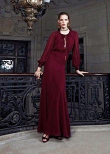 Красное вечернее платье в пол праздничное