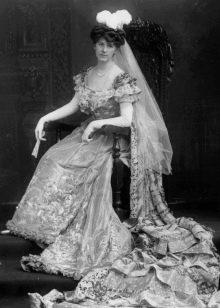 Платье свадебное конца 18 века со шлейфом