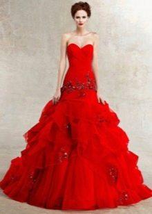 Красное свадебное платье трыбка
