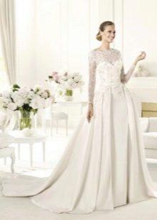 Свадебное платье а-силуэта со шлейфом от Эли Сааб