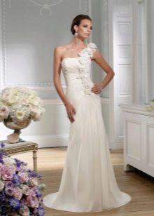 Греческое свадебное платье со шлейфом