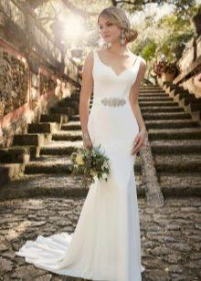 Свадебное прямое классическое платье
