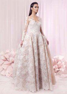 Свадебное платье пышное классик