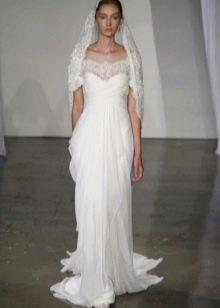Свадебное платье греческое с кружевом