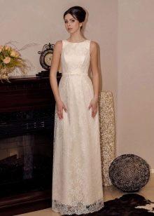 Простое свадебное платье от Виктории Карандашевой
