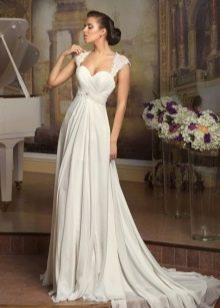 Элегантное свадебное платье ампир