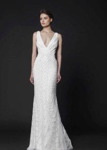 Прямое элегантное свадебное платье