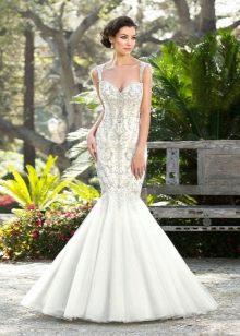 Свадебное платье русалка со стразами Сваровски