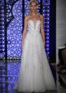 Свадебное платье пышное от Рим Акры с кристаллами Сваровски