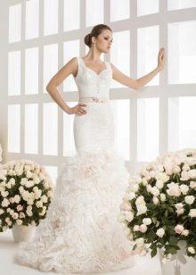 Свадебное платье рыбка от Василькова