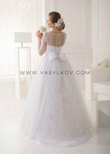 Свадебное платье с открытой спиной пышное от Васильков