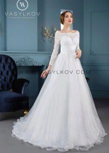 Свадебное кружевное платье от Василькова