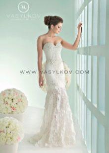 Кружевное свадебное платье от Василькова