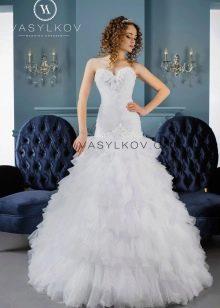 Пышное свадебное платье русалка от Васильков