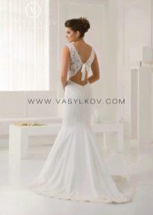 Свадебное платье с открытой спиной от Васильков
