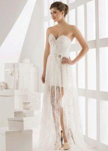 Короткое свадебное платье от Василькова