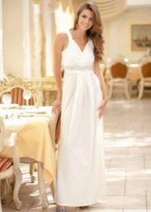 Платье вечернее 50 размера белого цвета