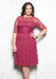 Кружевное вечернее платье для полных