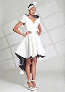 Вечернее платье короткое асимметричное