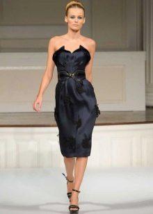 Черное платье-футляр вечернее