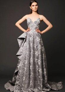 Цветное шелковое платье