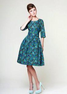 Вечернее платье бирюзовое