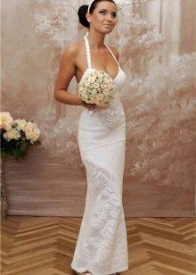 Свадебное платье вязанное крючком филейной вязкой