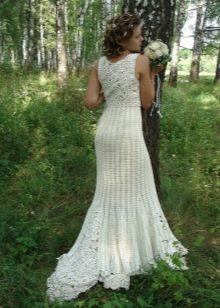Платье свадебное вязаное крючком своими руками