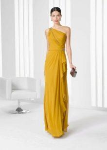 Греческое вечернее платье на одно плечо