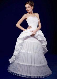 Свадебный подъюбник  на мягких кольцах и ткани