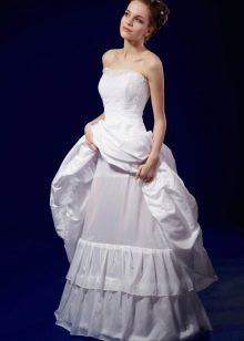 Свадебное платье с кринолином на мягких кольцах