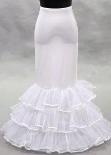 Свадебный подъюбник с оборками для русалки