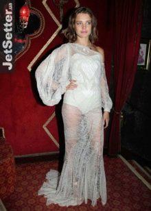 Вечернее платье Натальи Водяновой от Гивенши откровенное кружевное
