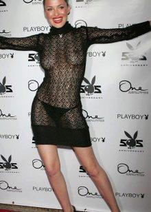 Откровенное прозрачное вечернее платье мини