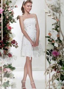 """Короткое свадебное платье из коллекции """"Цветочный коктейль"""" от Папилио"""