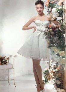 """Короткое пышное свадебное платье из коллекции """"Цветочный коктейль"""" от Папилио"""