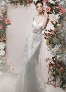 """Прямое свадебное платье из коллекции """"Цветочный коктейль"""" от Папилио"""