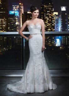 Свадебное платье русалка с поясом