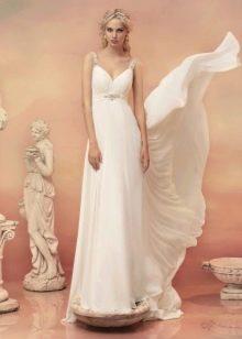 Свадебное платье в стиле ампир с поясом
